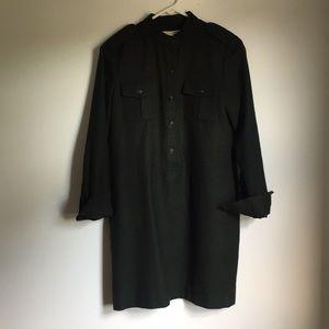 Banana Republic Wool Shirt Dress